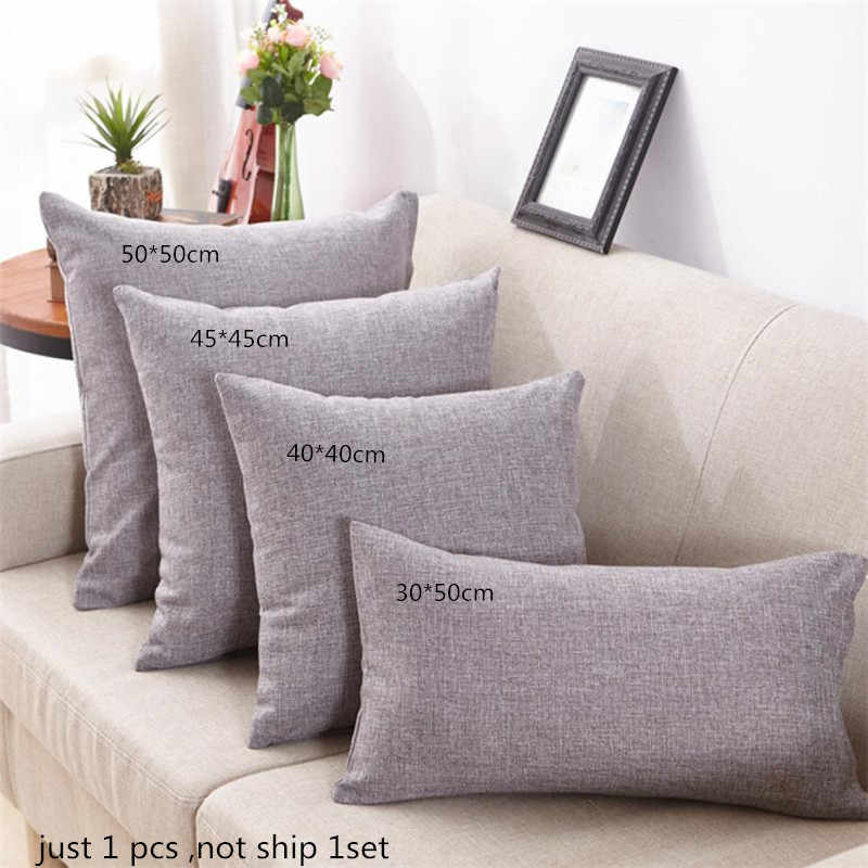 Simple Fashion Throw Pillow Cases Cafe Sofa Cushion Cover Home Decor 2017 new Rectangle Solid coussin Pillowcase Home Decor
