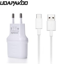 Udapakoo New Style USB Charger 2 Ports Wall Fast Adapter EU Plug With Type C Cable For Samsung A5(2017)/Xiaomi M5 Mi5(China)