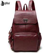 Designer Women's Backpacks Genuine Leather Female Backpack Women School Bag For Girls Large Capacity Shoulder Travel Mochila(China)