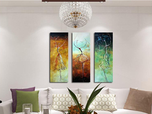3Pcs/Set Hand Painted Abstract Canvas Painting ballerina Oil painting ballet dancers Wall Art No Framed Decor Fashion Picture