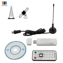 New Digital DVB-T2 DVB-T DVB-C 2.0 USB TV Stick HDTV Receiver with Antenna Remote FM DAB SDR HD USB Dongle for Windows PC Laptop