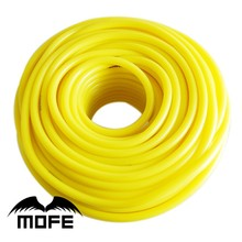 MOFE car auto 10meter 4mm racing car silicone vacuum hose tube pipe color yellow(China)