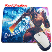 Funny item Luxury Draven League Mouse Mats Anti-Slip Rectangle Mouse Pad