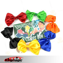 G0841-kingmagic magic props magic toy manufacturers tie color Quick-Change Bow Tie(China)