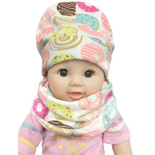 New Fashion Children Hat Scarf Autumn Winter Crochet Baby Hats Girls Boys Cap Baby Beanies Cap Cotton Baby Kids Hat Scarf Collar