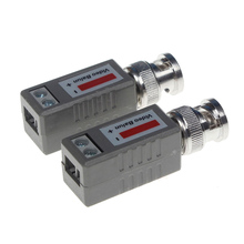 2 Pairs (4PCs ) UTP Video Balun Single Channel PassiveVideo Balun Cat5 RJ45 Balun Transceiver CCTV Video Power for camera DVR(China)