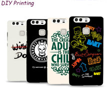 Personalized Custom 3D Relief For huawei phones p9 plus p9 p8 lite 2017 p10 lite all list Phone Case Soft Silicone Mobile Case