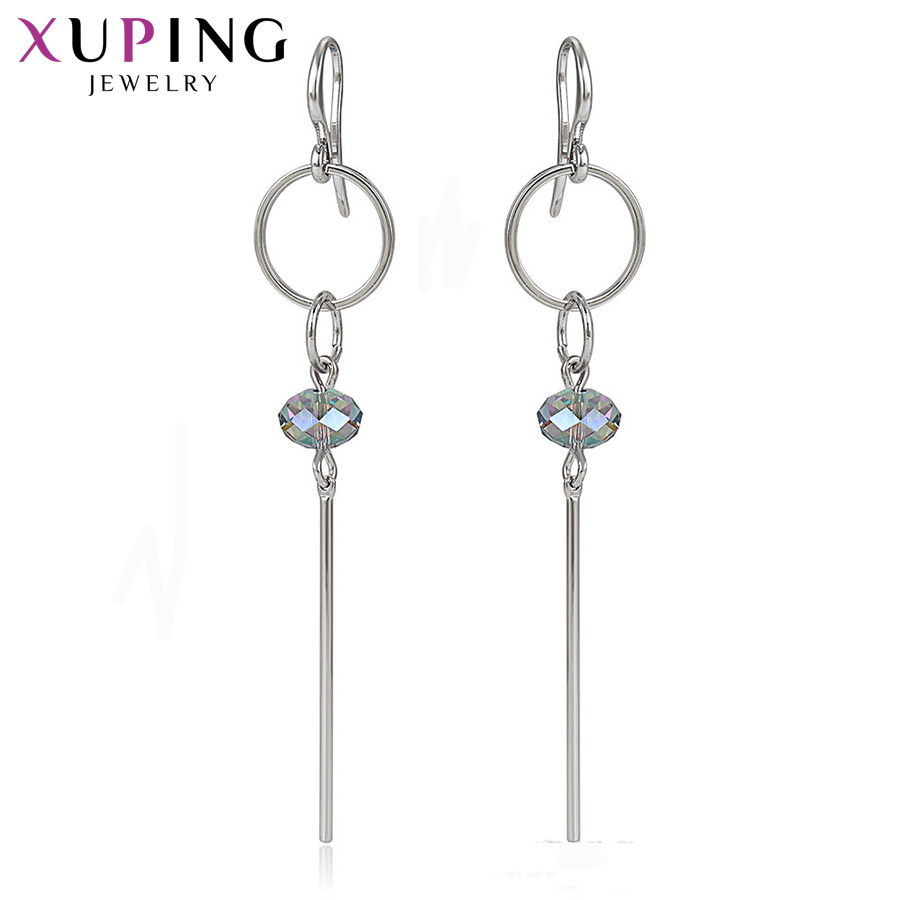 Xuping Jewelry Stylish Elegant Shinning Earrings for Women Crystals from Swarovski Special Birthday Party Gifts S178.3-97535