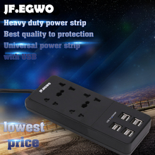 EU plug Socket Power Strip Surge Protector wall Outlets UK extension plug smart USB socket 4 AC 8 USB Ports Powercube Long Cord