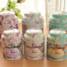 6pcs/lot Beautiful Flower Storage Box,Small Big Metal Tin Boxes,Bow-knot Tea Box for Sugar Coffee Coin and Small Things Storage