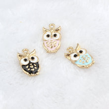 MRHUANG Oil Drop Charms 10pcs Owl  Alloy Pendant fit for bracelet DIY  Fashion Jewelry Accessories