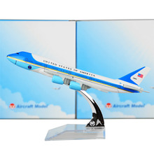 United States Air force one B747-200 Airlines plane model 16cm Men's Toy Birthday gift  Metal Free Shipping