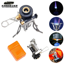Foldable Outdoor Picnic Cookout BBQ Gas Cooker Cool Tools Portable Camping Mini Steel Stove Case Cooker With Electronic Lighter