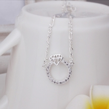 New Arrival!!Wholesale 925 Sterling Silver Anklets,925 Silver Fashion Jewelry,Fashion Zircon quit Anklets SMTA009