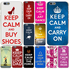 keep calm and be free Hard Transparent Case Cover for iPhone 4 4S 5 5S SE 5c 6 6s 7 7 Plus