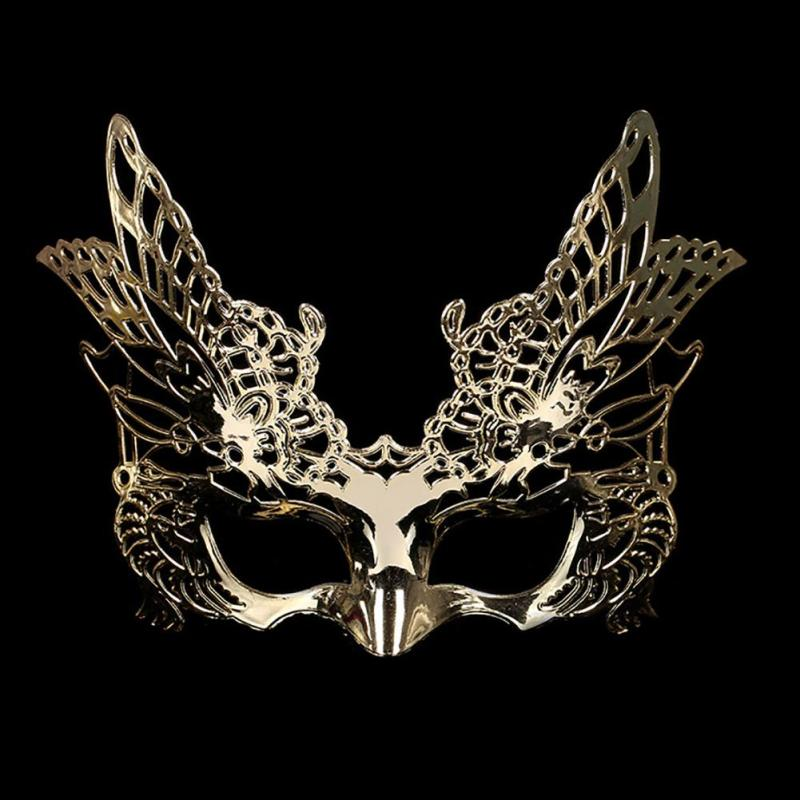 Mysterious Angel lace Halloween Christmas Masks cute girl Party Sexy Lace Ball Mask butterfly Mask Masquerade silver gold L50(China)