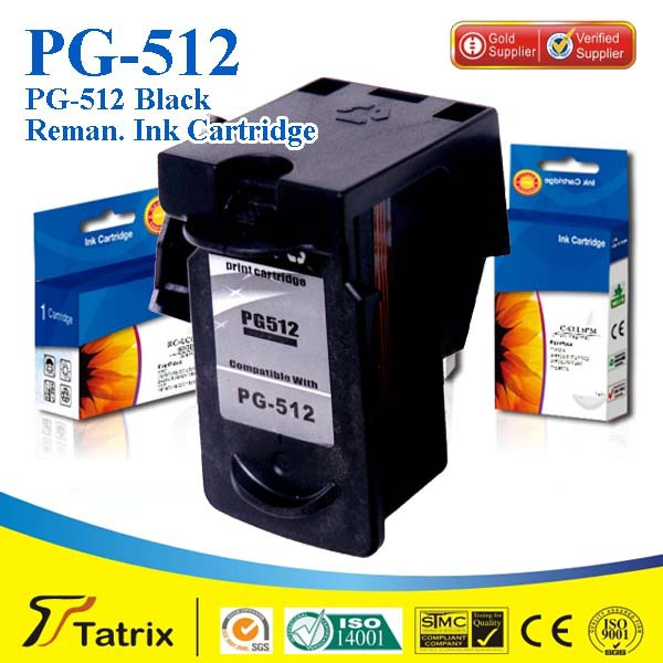 3PK PG512 pg-512 Remanufactured ink cartridge suit for Canon MP240,MP245,MP230,MP268,MP272,MP276,MP480 ,Full ink<br><br>Aliexpress