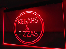 LB588- Kebabs & Pizzas Pizza Cafe LED Neon Light Sign home decor crafts(China)