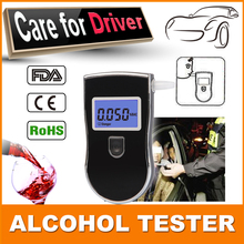 2015  On Sale! papa best gifts 10 piece mouthpiece per alcohol meter Prefessional Police Digital  Alcohol Tester Breathalyzer
