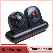Camping Compass Thermometer With Multifunction Auto Car Truck Boat Navigation Guide The Ball For Hiking Travel RL46-0001
