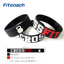 2 Pcs CROSS FIT BRACELETS CrossFit Wristbands, Silicon Bracelet Band(China)