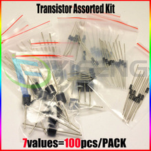 1N4001 1N4004 1N4007 1N5819 1N5399 FR107 RL207,7values=100pcs,Electronic Components Package,Diode Assorted Kit(China)