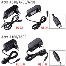 "12V EU / US Plug AC DC Home Charger Charge Power Cord Wall Charging Adapter For Acer Iconia Tab A510 A511 A700 A701 10.1"" Tablet"