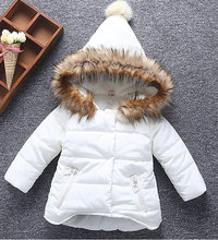 2017 New Girls Winter Jackets Kids Hooded Coats Thick 1-6Y Children's Warm Parkas Baby Brand clothes High quality Outdoor(China)