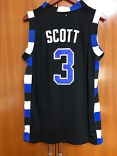 LUCAS SCOTT #3 ONE TREE HILL RAVENS BASKETBALL JERSEY black all stitched(China)