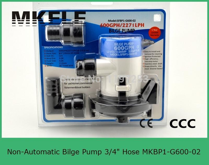 3/4 hose MKBP1-G600-02 marine New 12V Seaflo Submersible Bilge Pump 600 GPH with Retail Box and Manuel Free Shipping<br><br>Aliexpress