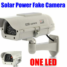 Indoor Outdoor Solar Powered Flashing LED Light Dummy Fake CCTV Security Outdoor IR Camera