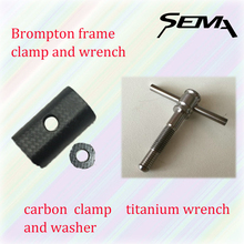 SEMA New Brompton Bicycle Frame Clamp Best Quality Carbon Fibre clamp super light and hot sale products(China)