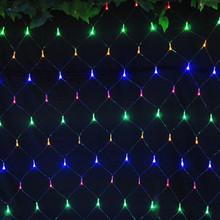 Colorful 2*2m 144 LED Net Light Red de la lampara Christmas Lights Wedding Party Decoration OUTDOOR LED Lighting Waterproof(China)