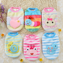 Hot Sale Super Warm Winter Small Dog Clothes for New Born Dogs Cats Soft Fleece Puppy Pet Coat Sweater Lovely Pet Apparel Cheap(China)