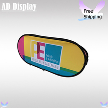 5PCS 200*100cm Size Horizontal Pop Up A Frame With Double Side Printed Banner,Outdoor Portable Advertising Display(China)