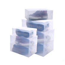 6pcs 28*18.5*9.5cm Novelty Stackable Clear Plastic Women's Girls Shoes Storage Boxes Shoebox Cases Organizers