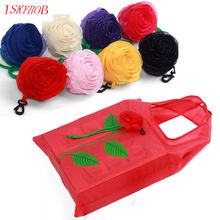 NEW Fashion Rose Flowers Reusable Folding Shopping Bag Tote Eco Storage Bags CN