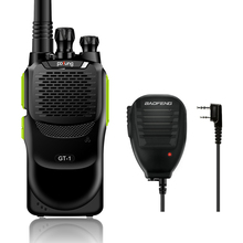 Baofeng GT-1 UHF 400-470MHz 5W 16CH FM Two-way Ham Radio Walkie Talkie Transceiver HT Green Original Remote Speaker(China)
