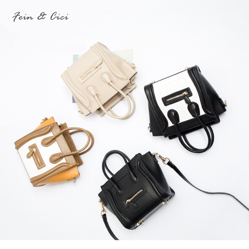 Smiley Bag Trapeze small mini small messenger bags for women leather Handbag Shoulder Bag 2018 Famous brand Cross body Bags <br>
