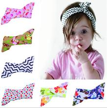 2017 New 10pcs Kids Summer Style Bunny Headband DIY Cotton Elastic Hair Bands Newborn Ring Wrap Can Adjusted Hair Accessories