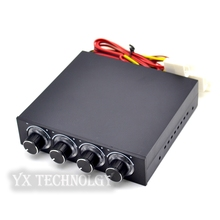 STW-6002 4 Channel Speed Fan Controller with Blue LED GDT Controller and CPU HDD VGA(China)