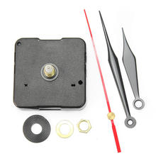 Quartz Clock Movement Simple DIY Mechanism Repair Replacing Parts Making a Clock Set Kit with Black Red Triangle Hands Quiet(China)