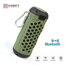 New Magift Wireless Bluetooth Outdoor Activity Waterproof Portable Speakers with Mic Handsfree TF AUX Loudspeaker Hot Selling