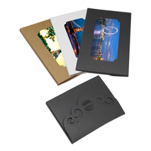 25pcs/Lot Paperboard Postcard Package Box Hollow Design Photos Invitation Cards Packing Gifts Box With Window For Party Birthday(China)