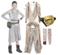 Buy Children Star Wars Rey princess Cosplay Costume Movie Force Awakens Halloween cosplay costume kids Party girls dress for $28.99 in AliExpress store