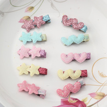 C Cute Styles Barrette Hair Accessories New Design Shiny Star Accessories Girls Heart Hairpins Kids Ornament Hair Clip(China)