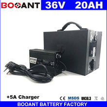 BOOANT 800W E-Bike Battery 36V 20AH with a Metal Box Scooter Battery packs 36V Free Duty to EU US with 5A Charger free Shipping(China)