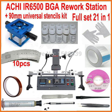 Hot sale ! ACHI IR6500 IR 6500 BGA Repair soldering machine Rework Station Upgrade from IR6000 with 21pcs gift kit(China)