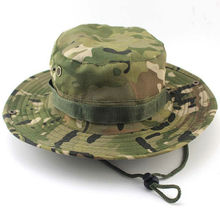 Summer Men Women Camouflage Bucket hat with string Fisherman Cap Military panama safari boonie