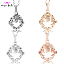 Pryme Power Interchangeable Necklace 20.5mm Fragrance Oil Cage Charm Angel Music Ball for Women Gift Vintage Necklace NL012